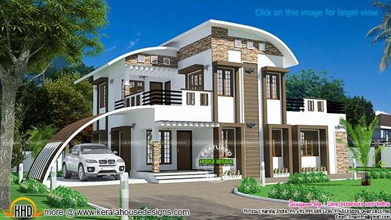 Kerala home design and floor plans   nice homes   Pinterest   Curves