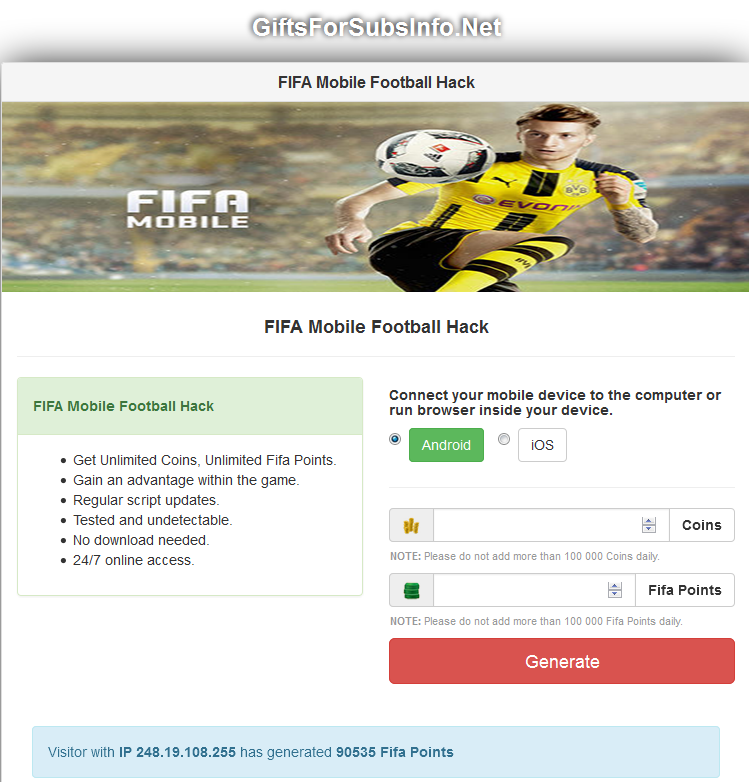 Get The Best Working Fifa Mobile Football Hack To Get Free Coins And