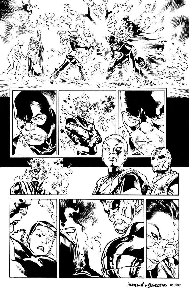 Inks X Men Page 19 By Stuart Immonen By Adr Ben D7jz9bu Jpg 723 1104 Stuart Immonen Comic Art Comic Book Pages