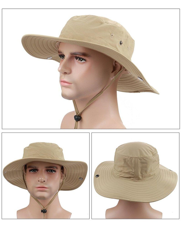 4be2caaa2291 Hats & Caps, Women's Hats & Caps, Sun Hats, UPF50 + UV-Cut Safari Hat  Adventure Hat Brim Wide Fashion Hat Hat Men - Khaki - CA12IA5VSXF #women # hats #caps ...