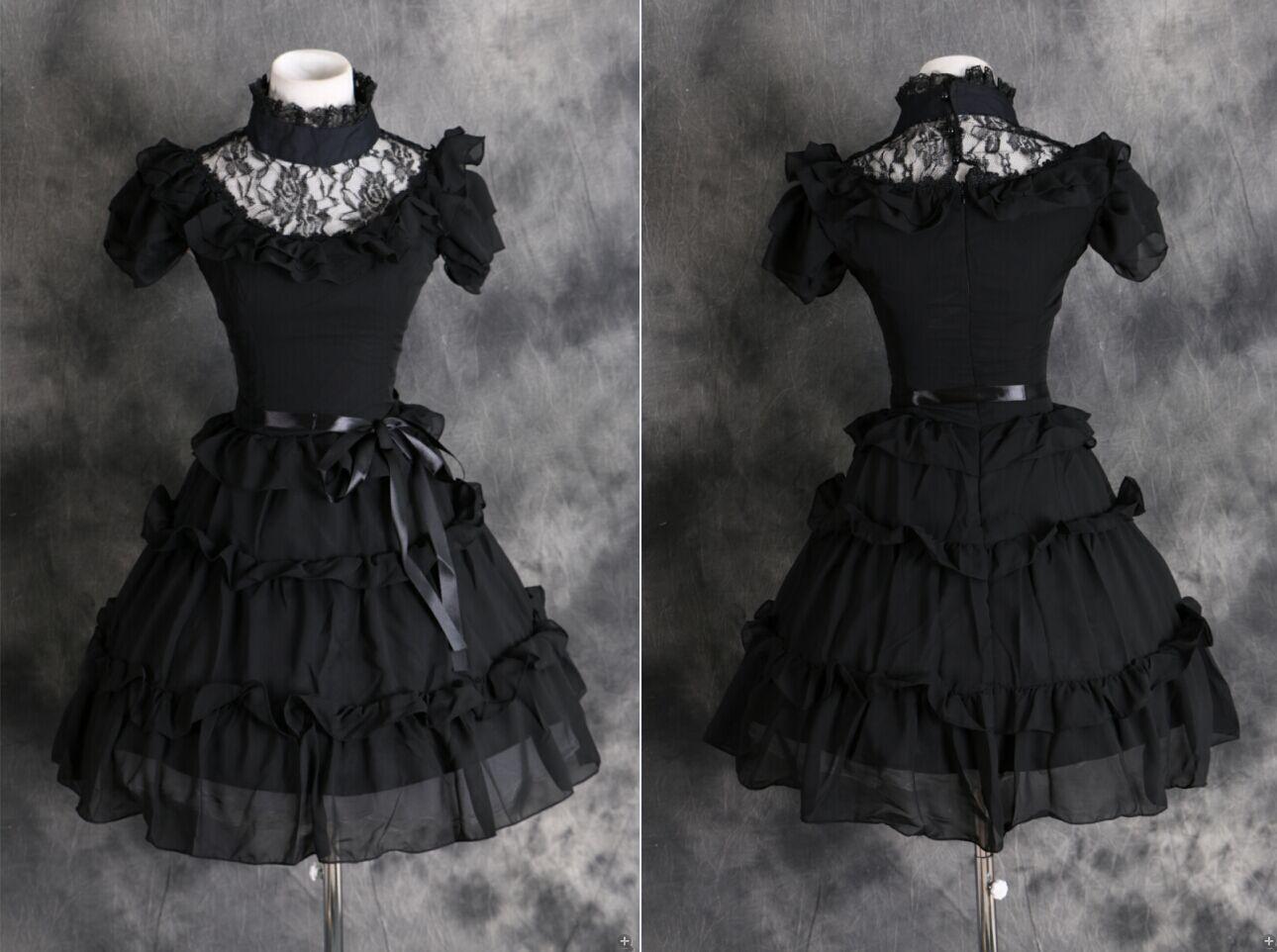 Schwarzes cosplay kleid