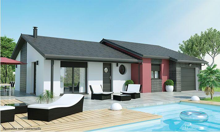 maison plain-pied moderne Douceur champêtre. Faire construire en ...