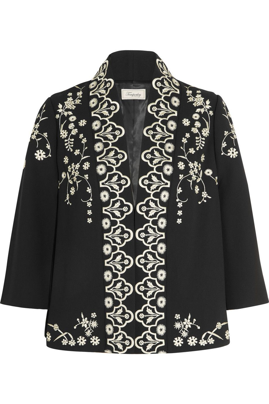 Temperley London | Lettie embroidered crepe jacket | NET-A-PORTER.COM