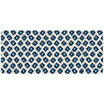 "Bungalow Flooring Premium Comfort Ikat Mat Rug Size: 22"" x 52"", Color: Blue"