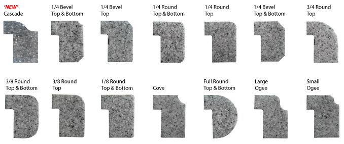 The Countertop Depot Edge Profile Edge Profile Corian Diy Natural Stone