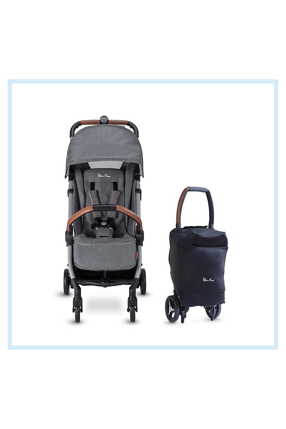 Silver Cross Jet 2020 Ultra Compact Special Edition Single Stroller In Mist - Lightweight, compact, and suitable from birth, the Silver Cross Jet 2020 Special Edition Single Stroller is perfect for a busy family on the go. The new design has an increased weight capacity to 55 pounds, a larger seat capacity and higher handlebar.
