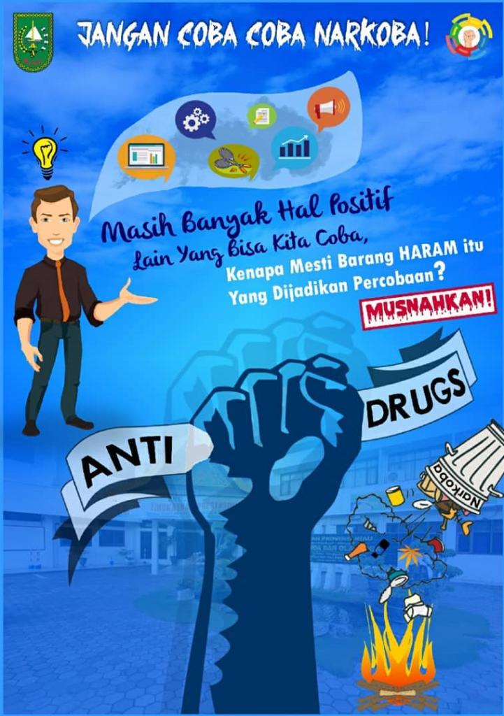 Jangan Coba Coba Narkoba Poster Anti Narkoba Poster Anti