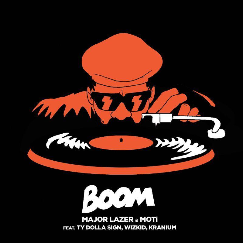 Major Lazer, MOTi, Ty Dolla Sign, Wizkid, Kranium – Boom (single cover art)