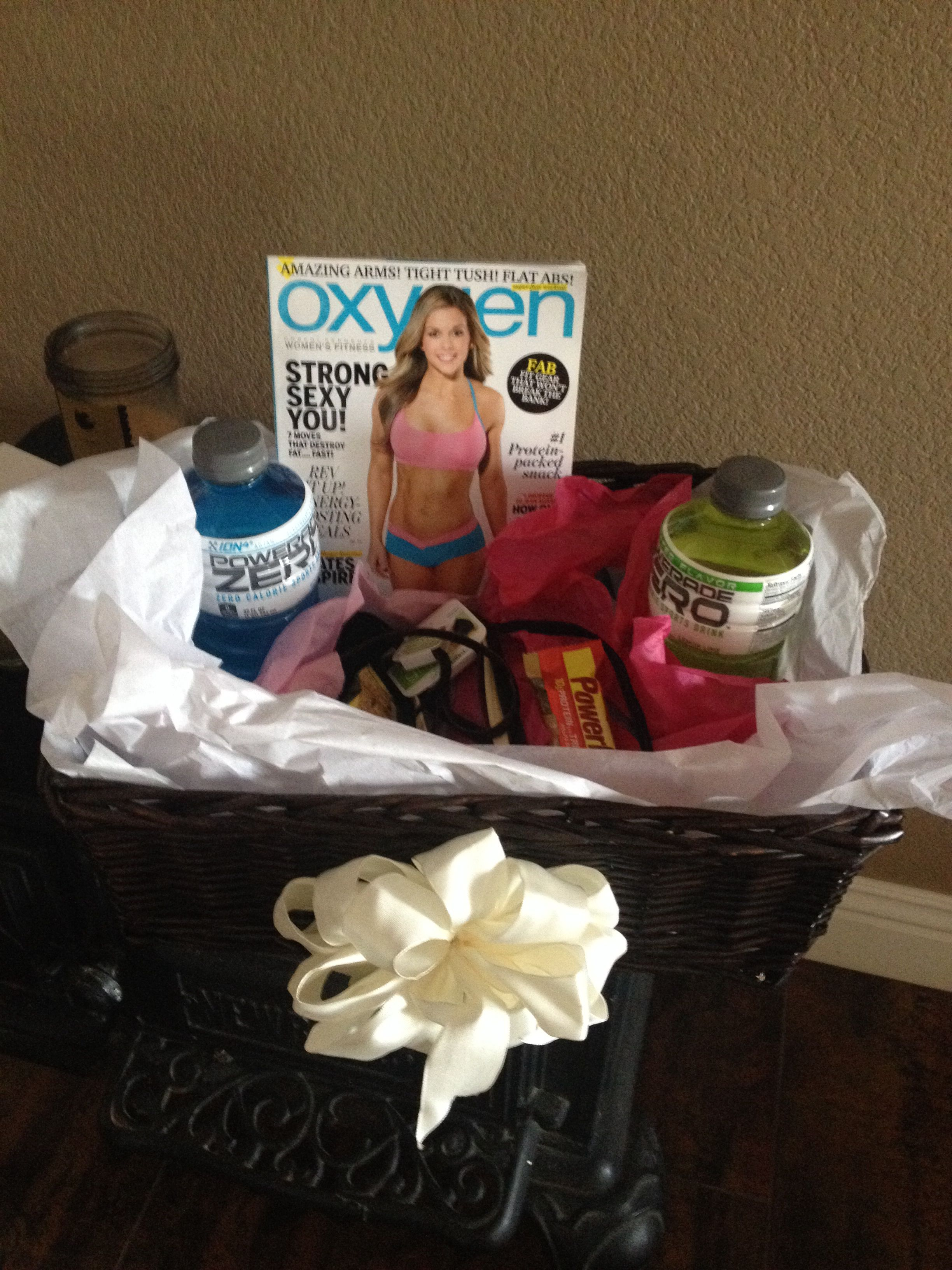 Rather Than Purchase Alcohol For My Sons Girlfriends 21st Birthday I Made A Basket Filled With Things She Loves 21stbirthdayworkouthealthylifestyle