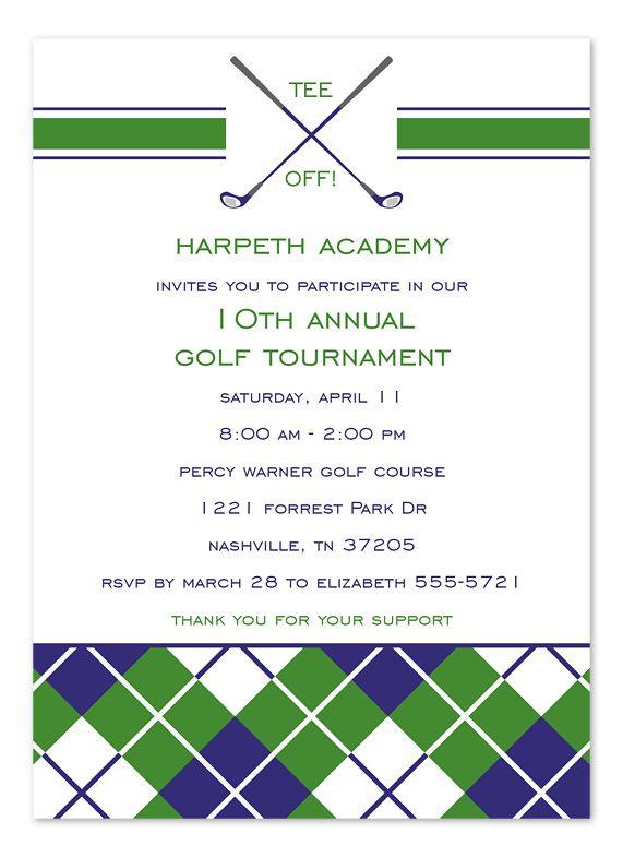 golf invitation Golf Tournament - Corporate Invitations by - corporate invitation text