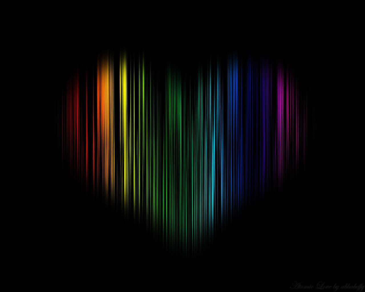 Atomic Colorful Love WallPaper HD
