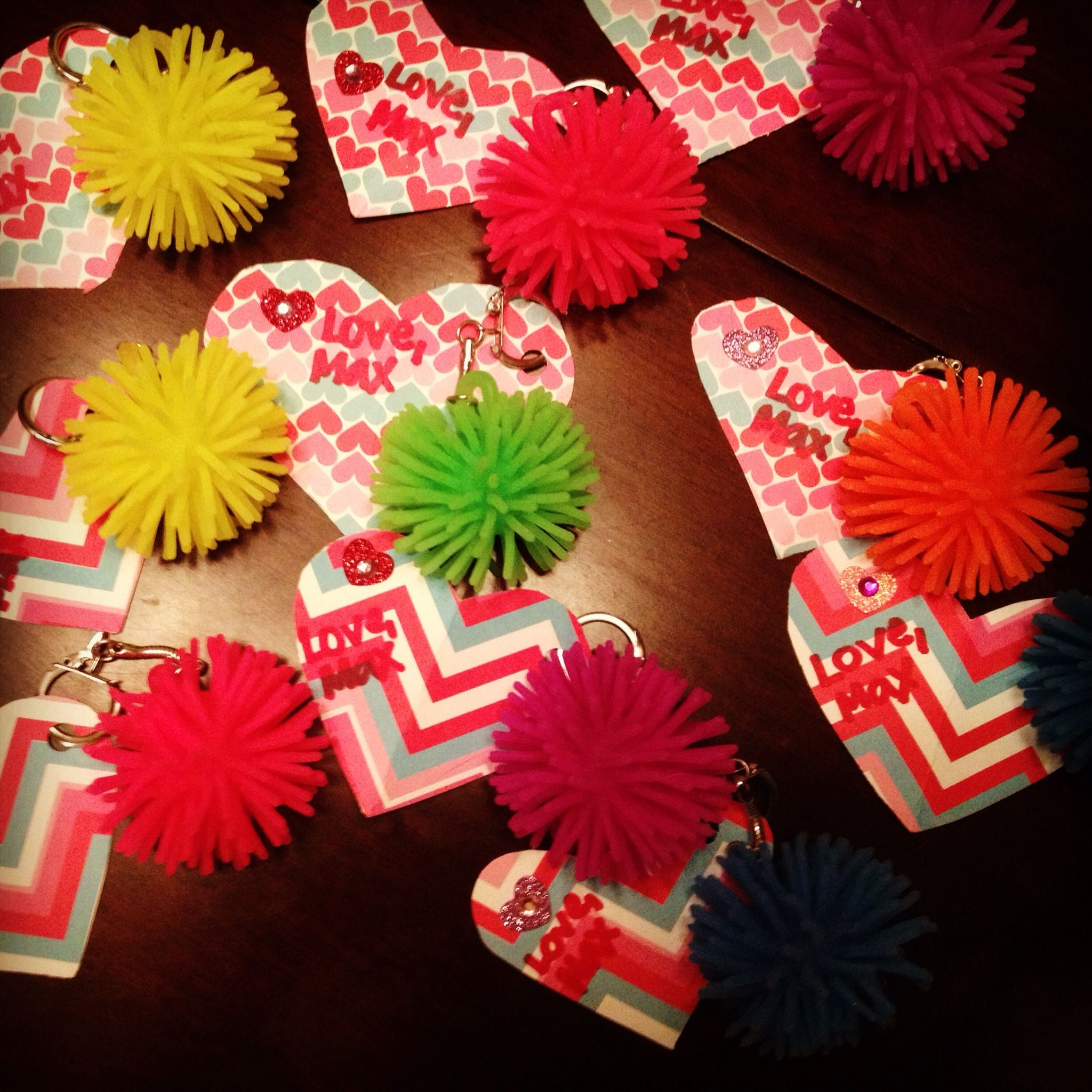 Christmas Craft Ideas For 2 Year Olds Part - 43: Homemade Valentines For My Sonu0027s 1 To 2 Year Old Daycare Class!
