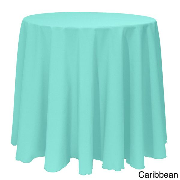 Solid Color 90 Inches Round Colorful Tablecloth