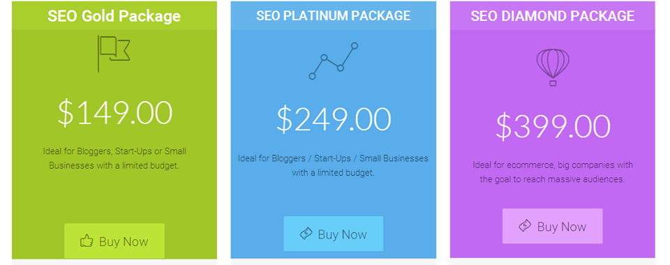 Our predesigned SEO packages give you an idea of the