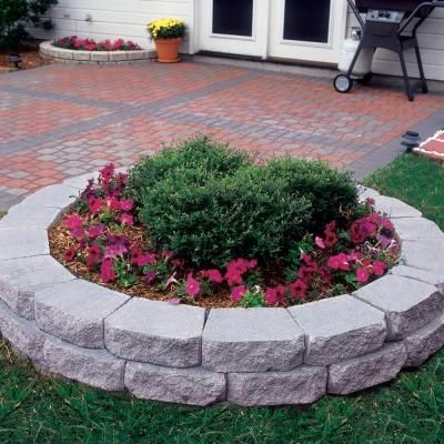 4 In X 11 75 In X 6 75 In Pewter Concrete Retaining Wall Block 81100 The Home Depot Concrete Retaining Walls Landscaping With Fountains Landscaping Blocks