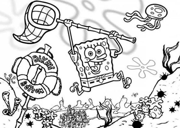 Coloring Pages For Kids Spongebob Cartoon Cartoon Coloring Pages ...