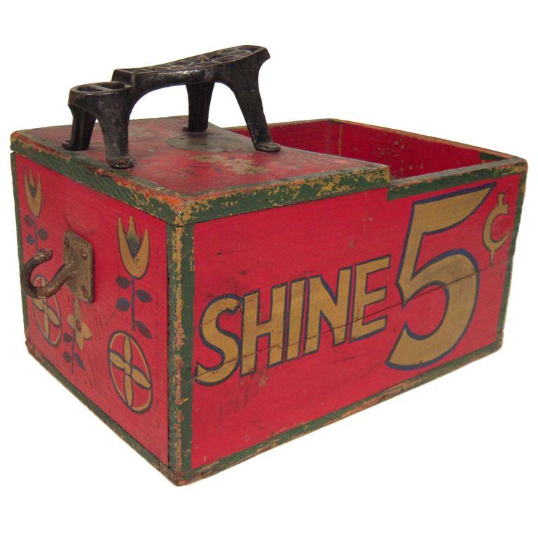 1930s Shoe Shine Box - 1930s Shoe Shine Box 1930s, Box And Vintage
