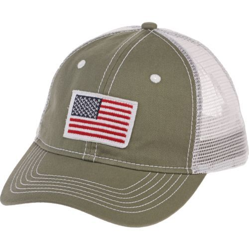 9ef4b487 Image for Academy Sports + Outdoors™ Men's Distressed American Flag Trucker  Hat from Academy