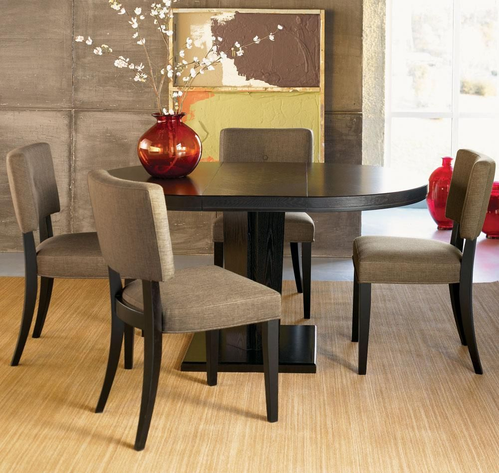 Depiction Of Small Oval Dining Table