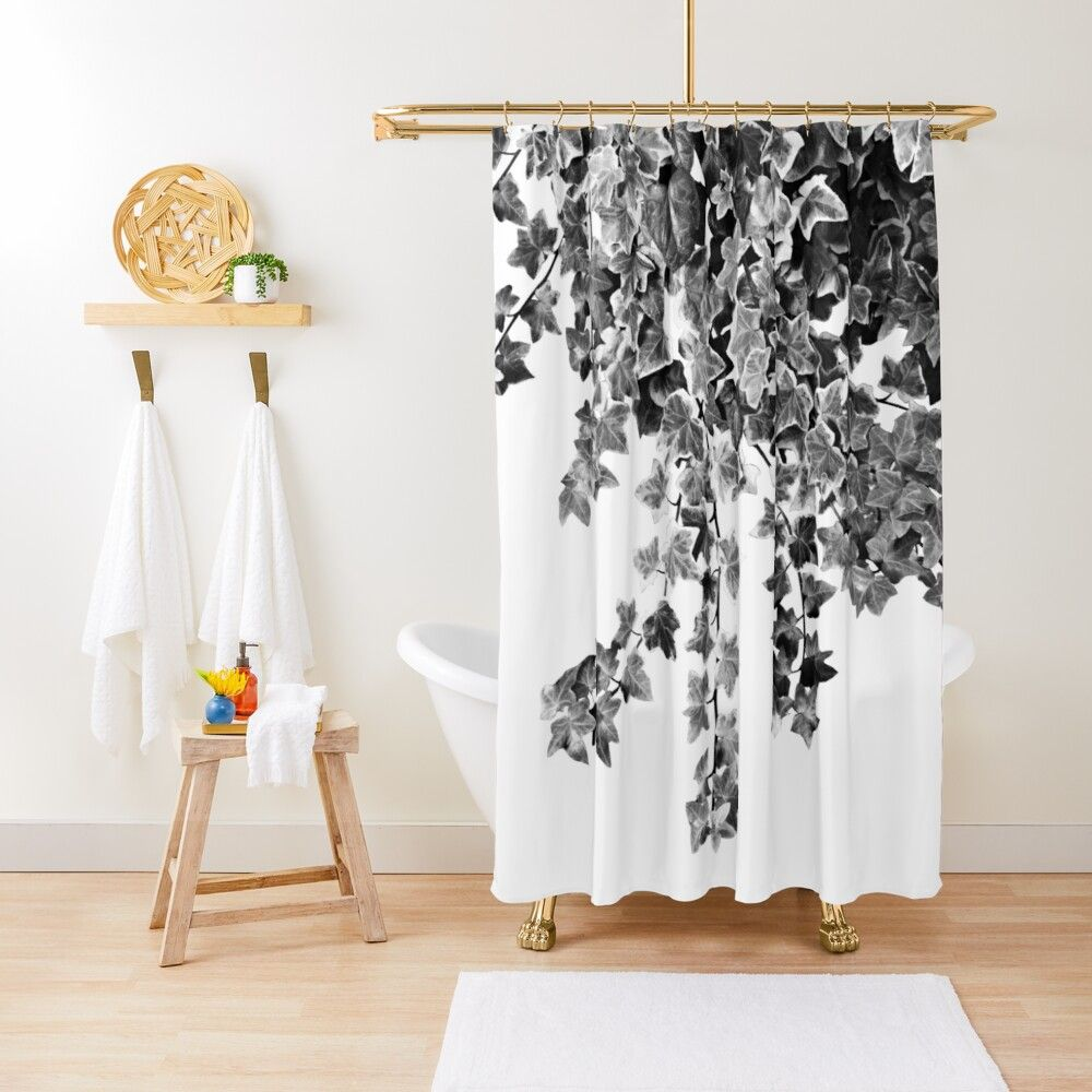 Ivy Delight 3 Wall Decor Art Shower Curtain In 2020 Curtains Wall Decor Home Decor
