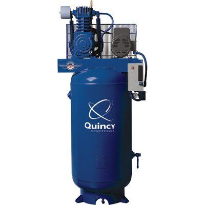Quincy Qt 7 5 Splash Lubricated Reciprocating Air Compressor 7 5 Hp 230 Volt 1 Phase Reciprocating Air Compressor Air Compressor 80 Gallon Air Compressor