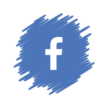 Facebook Social Media Icon, Watercolor Facebook, Facebook ...