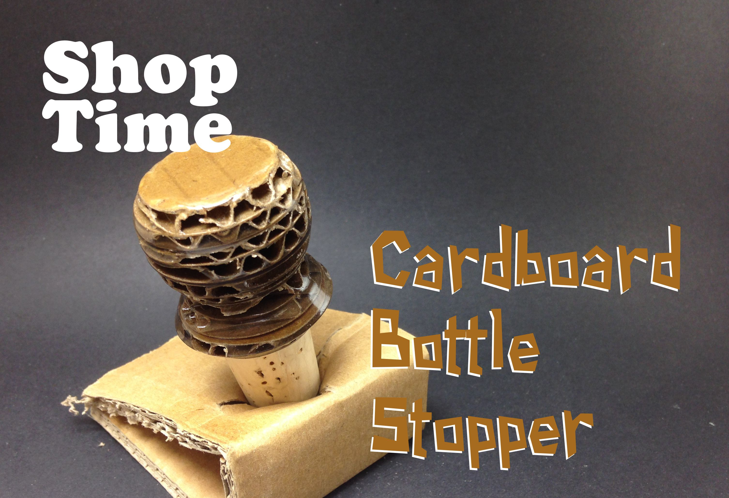 Bottle Stopped From Recycled Cardboard