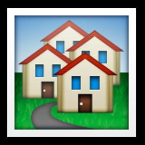 House Buildings Emoji Fun Arizona Logo