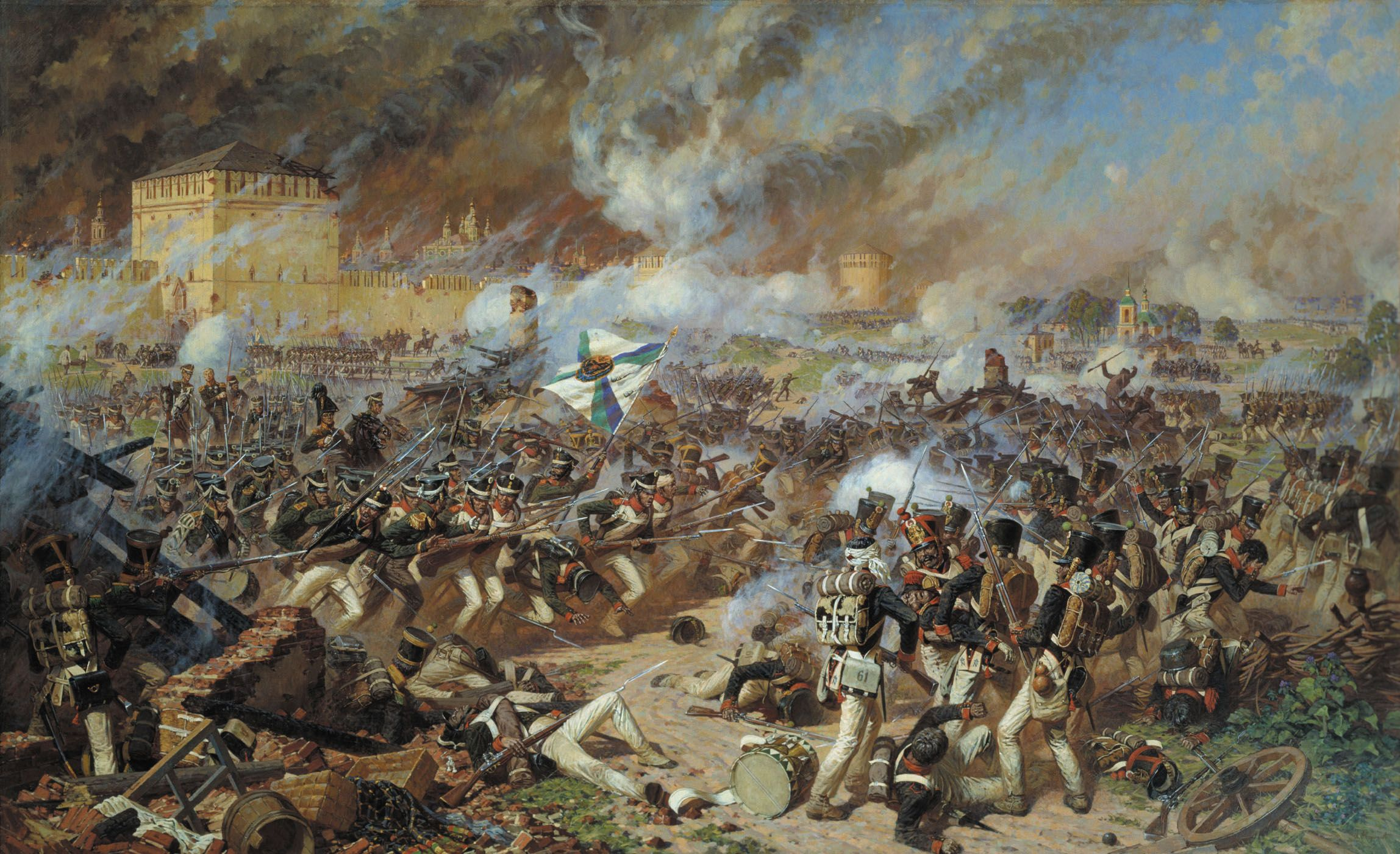 Waterloo Battle Attack on Plancenoit by Prussian Divisions of Hiller art print