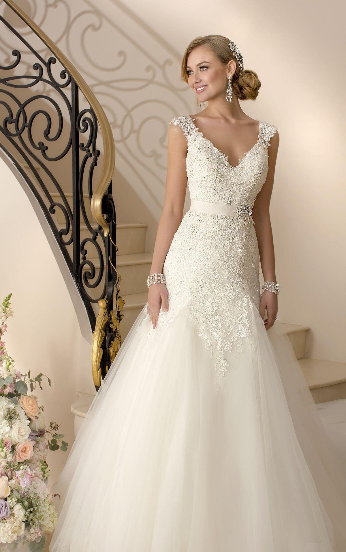 Lace Cap Sleeve Wedding Dress By Stella York Style 5949 Dream