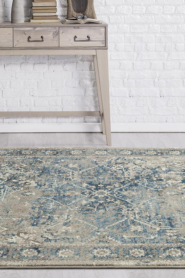 Breeze Whisper Rug Blue Dark blue rug, Traditional rugs