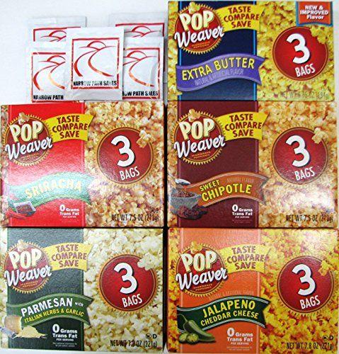 Pop Weaver Flavored Microwave Popcorn Variety Bundle Of 5 Sanitizing