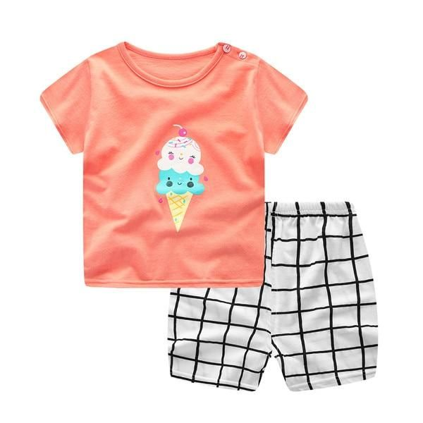3d18286c2 Plaid Baby Boy Clothes Summer 2018 New Aircraft Baby Boy Girl ...
