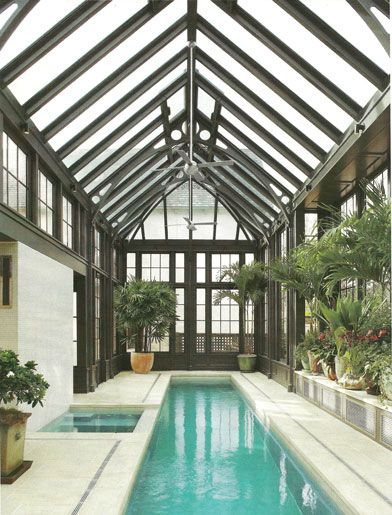 Greenhouse Meets Indoor Lap Pool Ad Small Indoor Pool Indoor Pool Design Indoor Swimming Pool Design
