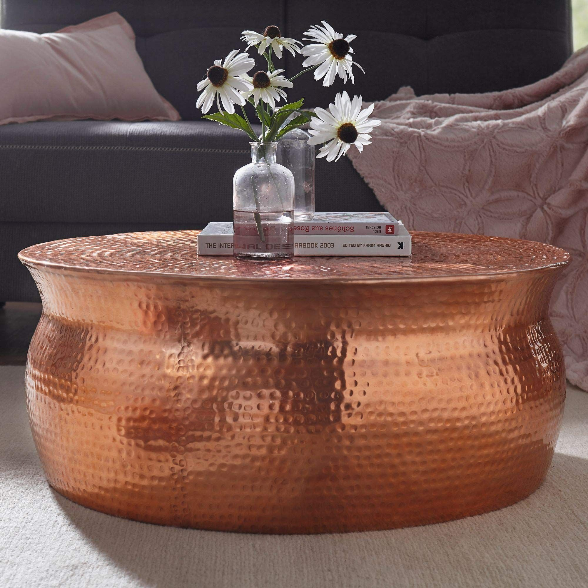 Wohnling Karam Couchtisch Aluminium Kupfer 75x31x75 Cm Coffee Table Copper Coffee Table Coffee Table Setting [ 2000 x 2000 Pixel ]