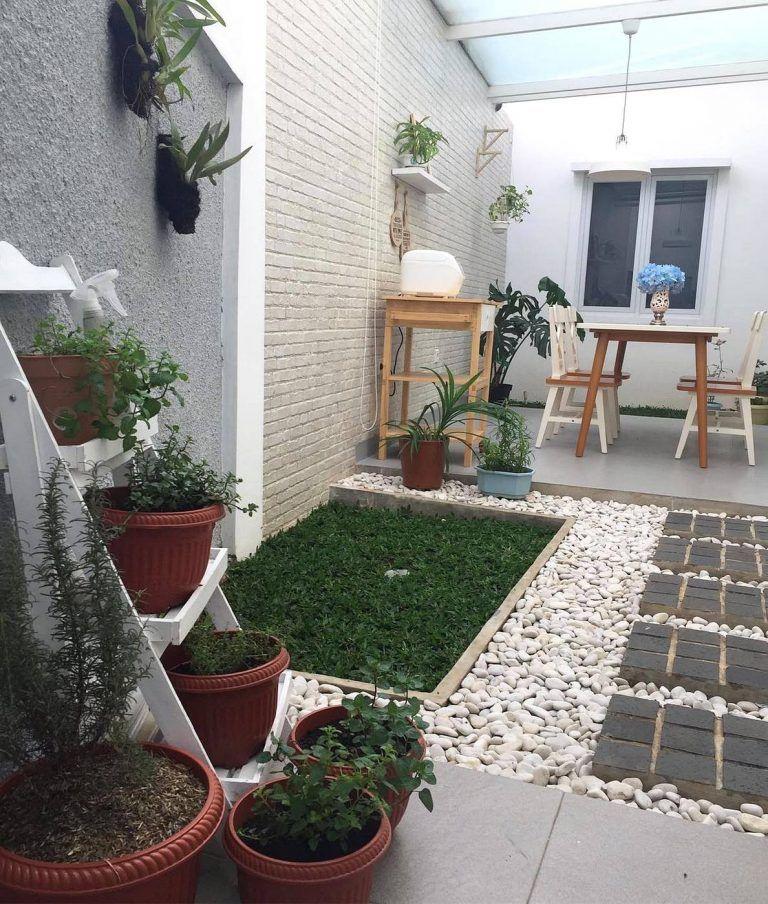 Taman Minimalis Didalam Rumah Nuansa Asri Romantis Keren