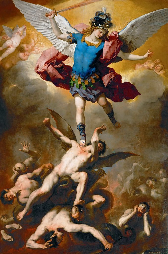 Archangel Michael Hurls the Rebellious Angels into the Abyss | Art ...