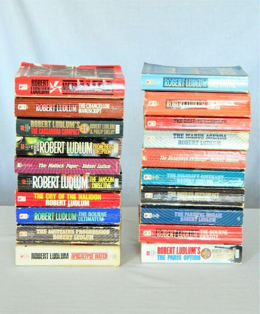 Robert Ludlum Mystery Thriller Novels 20 Paperbacks Robert Ludlum Thriller Novels Mystery Thriller