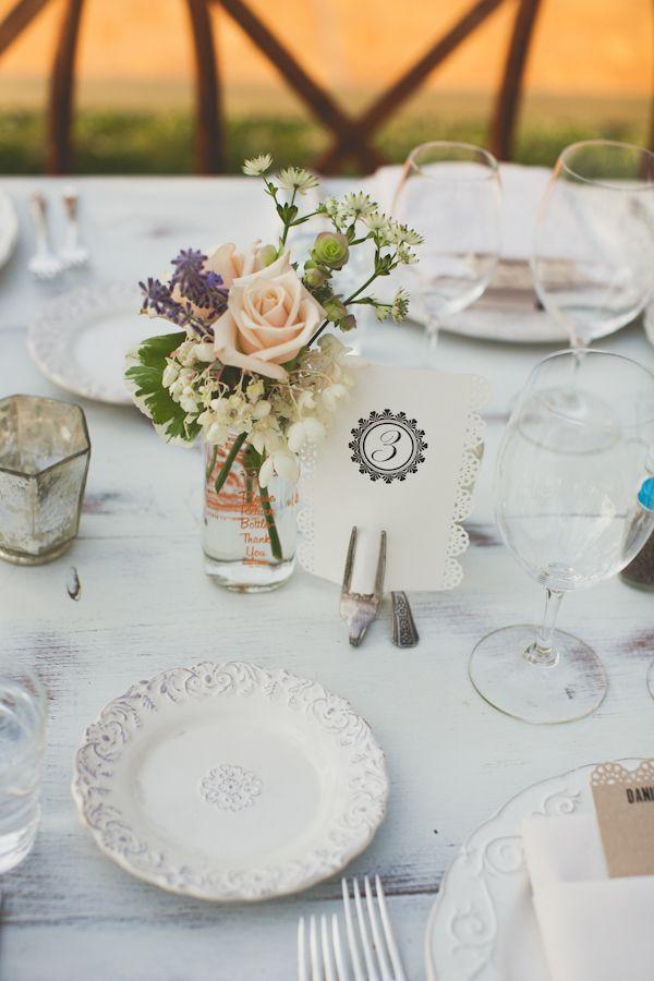 ► Flores para un centro de mesa para boda. #centros #mesa #bodas