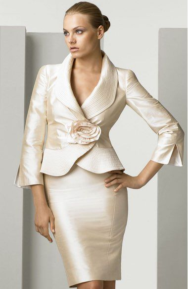 Armani Collezioni Silk Shantung Skirt Suit Available At Nordstrom