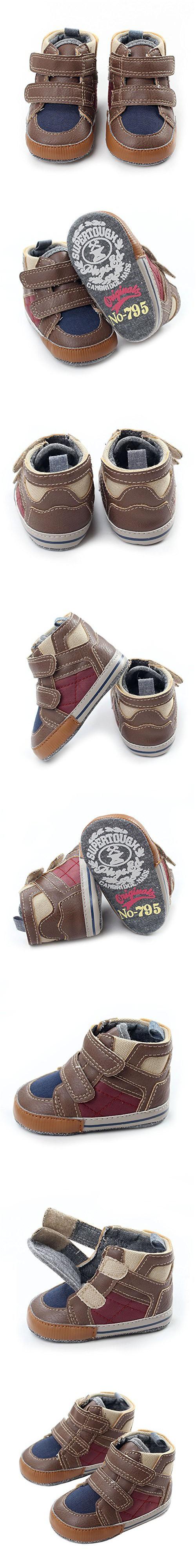 Infant Baby Boys Soft Sole Velcro Crib Sneaker Shoes Slip On Toddler Prewalker