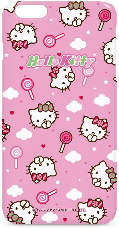 Hello Kitty Lollipop Pattern Iphone 6 6s Plus White Lite Case