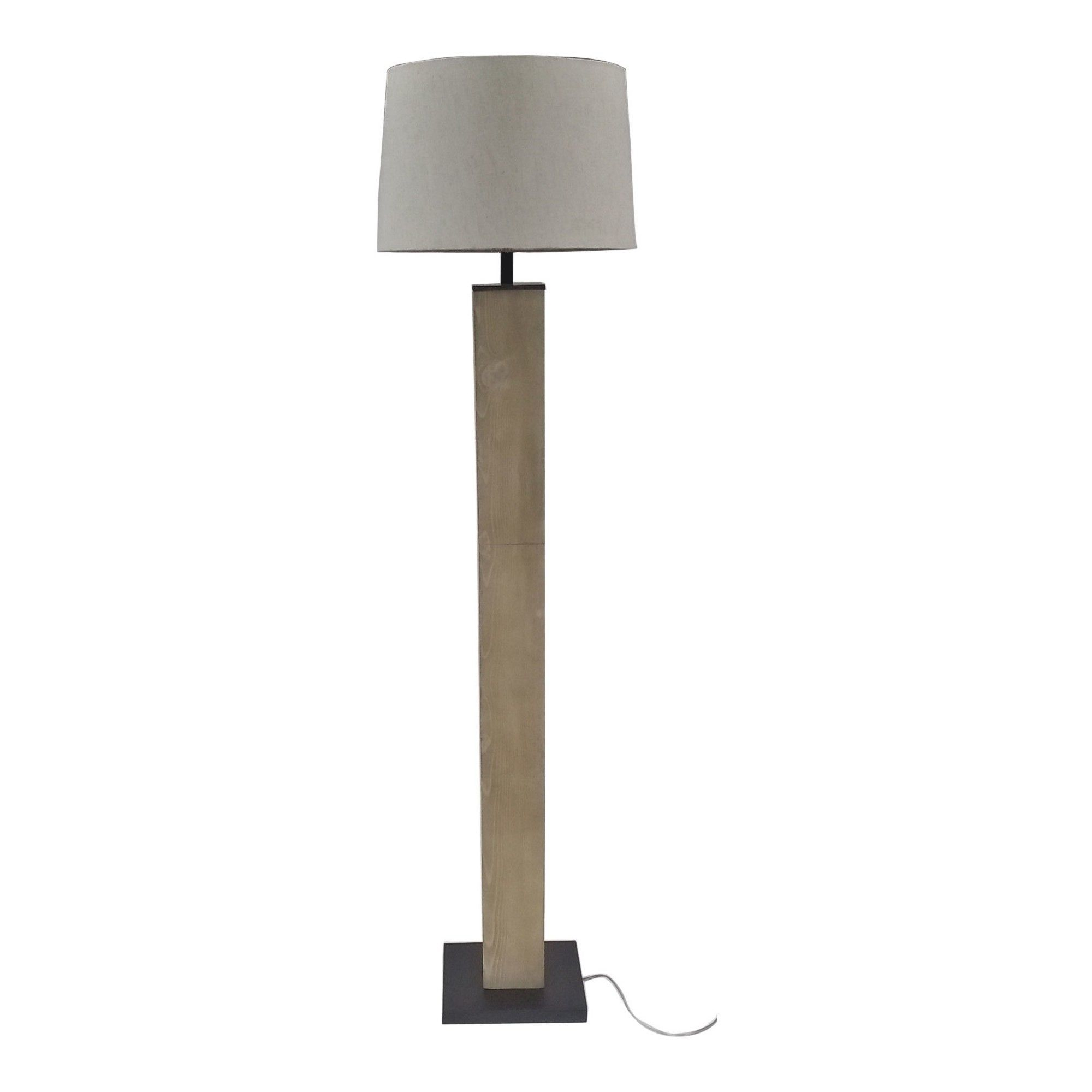 Design for Good Wood Floor Lamp (Includes Cfl) Gray