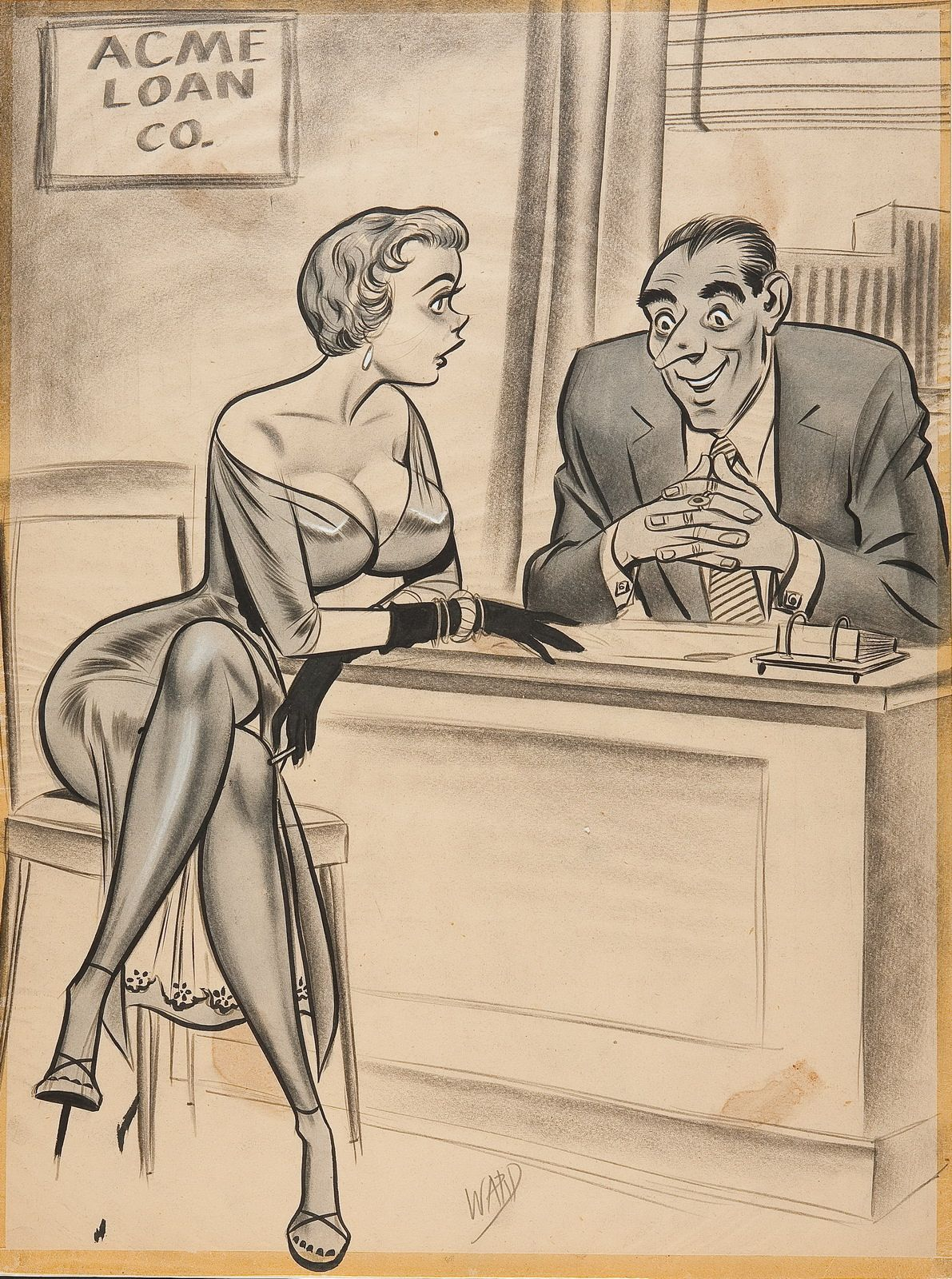 Bill Ward Cartoons - 143 Pics -