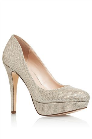 Buy Silver Shimmer Court Shoes from the Next UK online shop ...