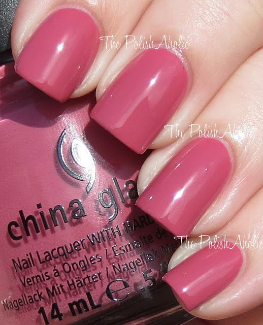 China Glaze: Life is Rosy | nails | Pinterest | Diseños de uñas ...