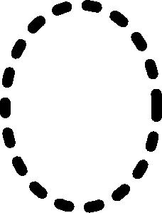 Alphabet Tracing Letter O Clip Art