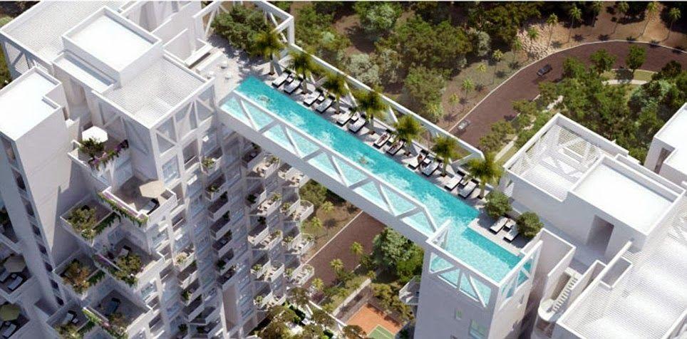 Singapore Sky Bridge Pool.