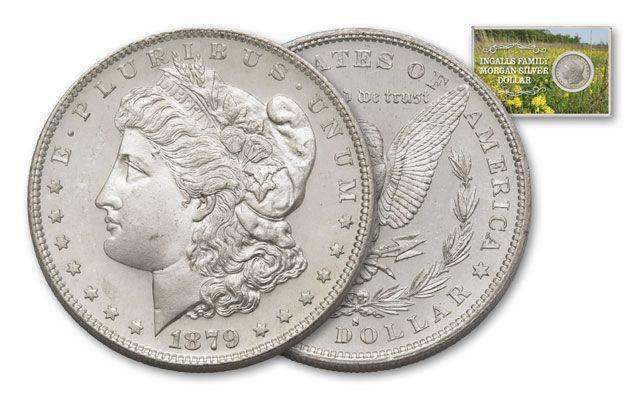 1879 S Morgan Silver Dollar Ingalls Family Bu Morgan Silver Dollar Morgan Dollars Gold Coins