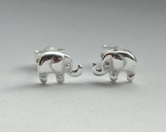 Photo of Elephant Tiny Studs Earrings – Elephant 925 Sterling Silver Jewelry